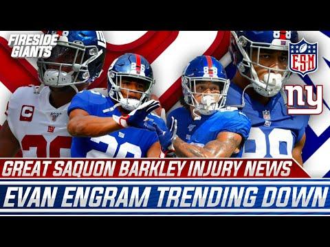 Great Saquon Barkley Injury News, Evan Engram Trending Down | More Giants Updates