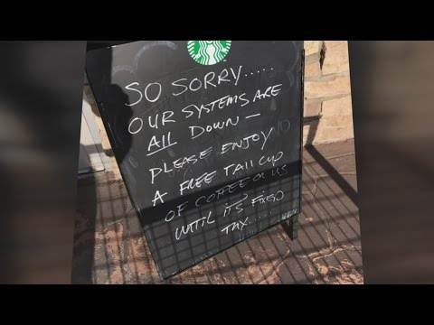 Starbucks computer glitch means boost in business for local shops
