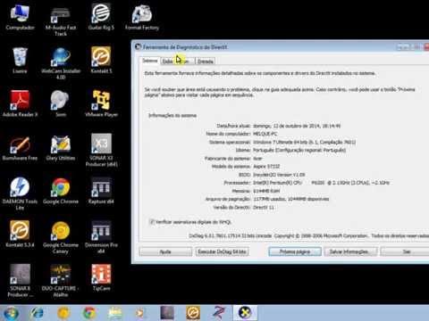 Drives windows xp ,vistas 7,8,9,10,11  Pelo DXdiag