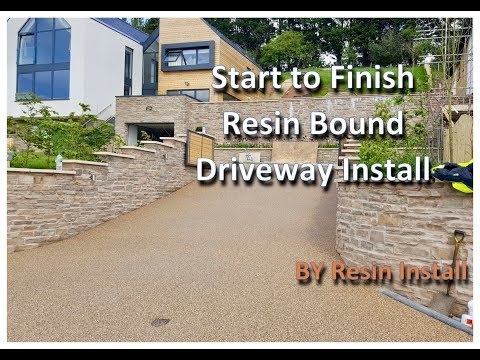 Resin Bound Driveway 350m2  Resin Drive, How to Resin Driveway by Resin install