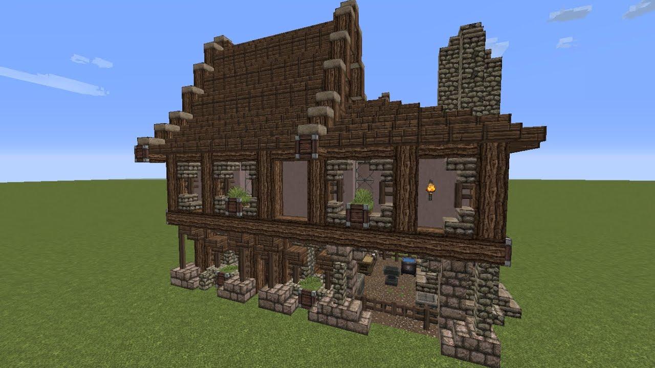 Minecraft mittelalterliche schmiede tutorial teil 2 4 for Minecraft modernes haus download 1 7 2