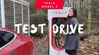 Машина Будущего - Tesla Model S - ТЕСТ-Драйв В Германии ПО Автобану.