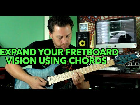 How To Visualize The Guitar Fretboard Using Chords Youtube