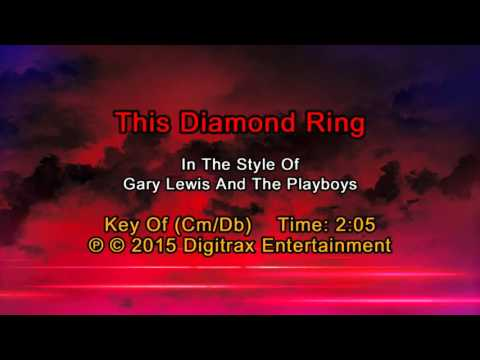 Gary Lewis & The Playboys - This Diamond Ring (Backing Track)