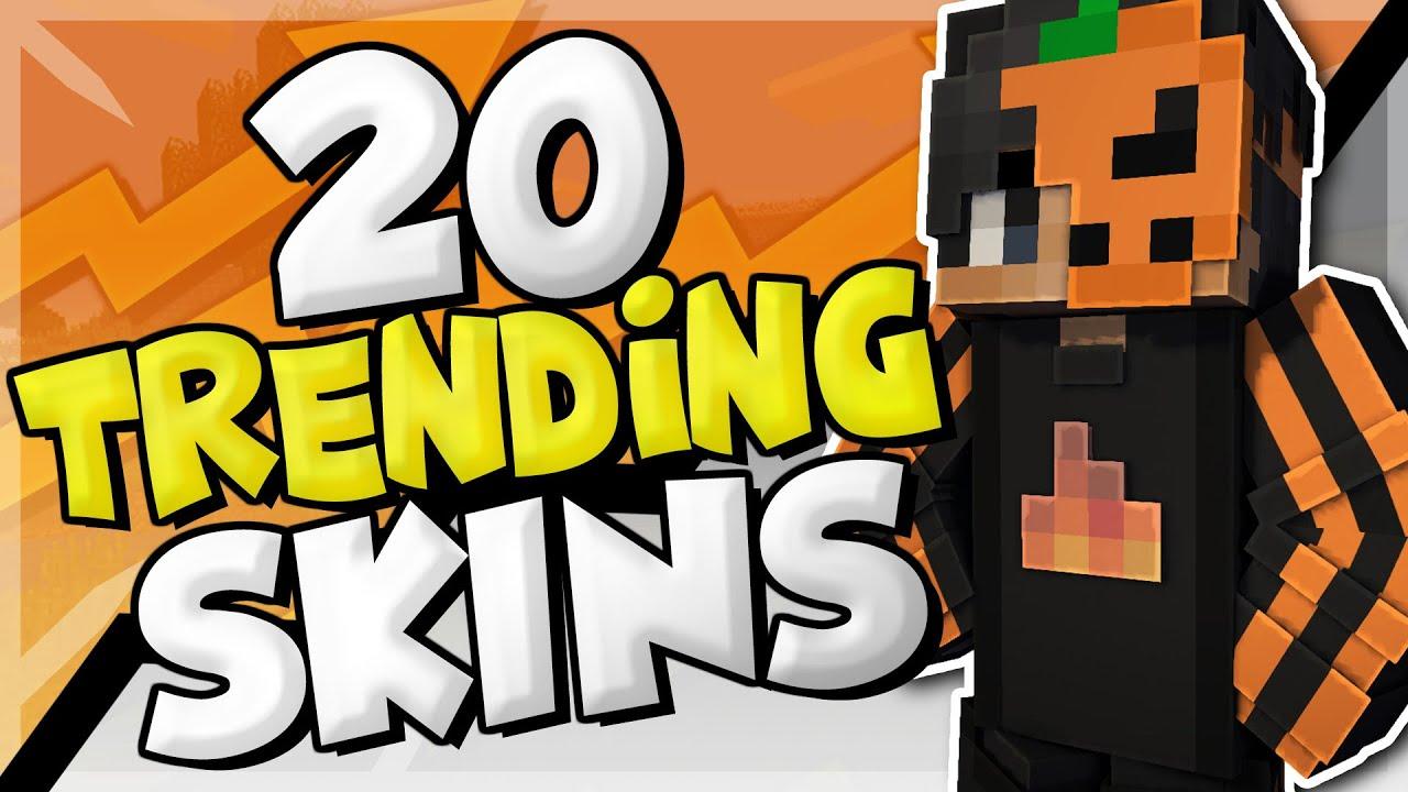 10 Trending Minecraft Skins! - YouTube