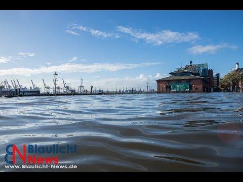 Sturmflut Herwart trifft auf Hamburg