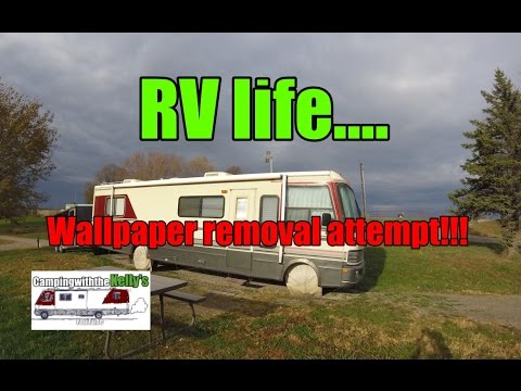 RV Wallpaper Removal