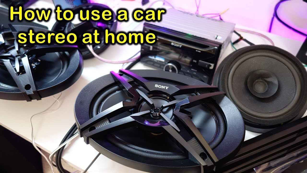 How to wire up a Sony car stereo for home use including speakers, amplifier  and subwoofer