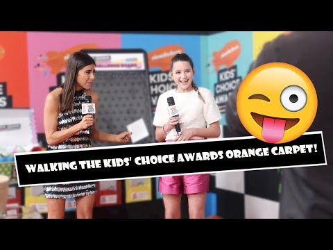 Walking The Kids' Choice Awards Orange Carpet 😜 (WK 377.4) | Bratayley