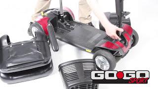 Pride Go-Go Sport Three Wheel Travel Mobility Scooter