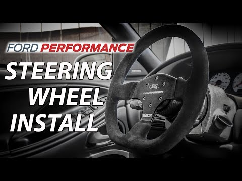 Ford Performance Steering Wheel Install 1994 2004 Mustang Youtube