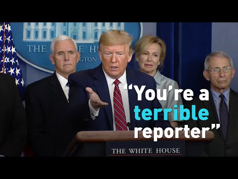 Reporter to Trump: What do you say to Americans who are scared?