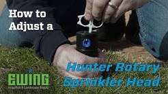 How To Adjust A Hunter Rotary Sprinkler Head