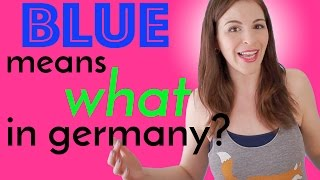 Different Color Meanings in GERMAN & ENGLISH