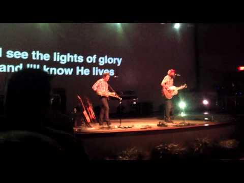 David Crowder singing