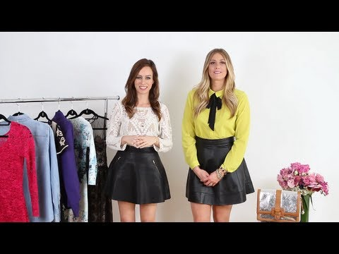 Petite & Tall: How To Wear a A-Line Leather Skirt - YouTube