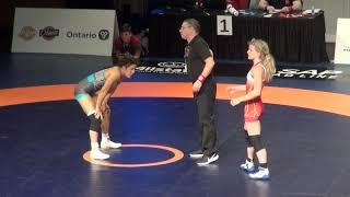 2019 Canadian Trials WW53kg Jayde Davis (Montreal) vs Grace Chambers Dinos (Calgary)