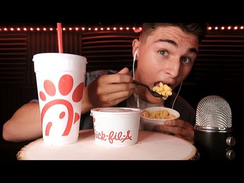 ASMR ~ Eating Chick-Fil-A NEW Mac N Cheese (Soft, Sticky, Eating Sounds) | DennisASMR