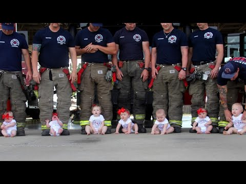 Oklahoma Firefighters Stage Photo Shoot After 7 Kids Are Born in 2 Years