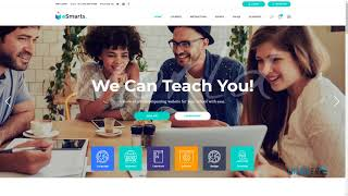 eSmarts - A Modern Education and LMS Theme   Free Template El