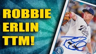 Through The Mail Autographs: Robbie Erlin San Diego Padres