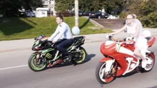 Свадьба мотоциклистов. Мотосвадьба. 2016 год
