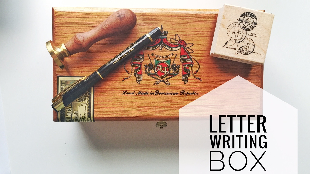 Letter Writing Box - YouTube