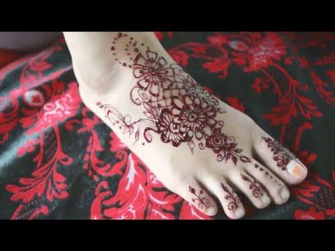 Henna Simpel Untuk Kaki 3 Youtube