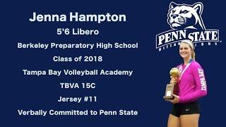 Jenna Hampton Highlights - Libero (Penn State)