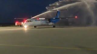 Ndege ya Air Tanzania toka Canada ikipewa HESHIMA Mwanza