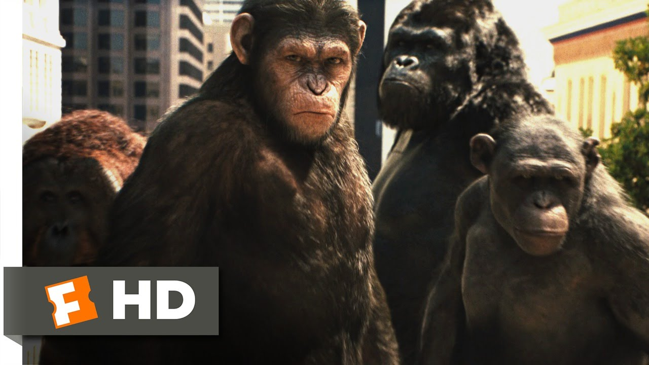 Rise Of The Planet Of The Apes 2011 Attack On San Francisco Scene 3 5 Movieclips Youtube