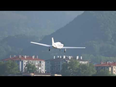 Piper PA-46-310P Malibu (D-EKVH) despegue pista 22 San Sebastián (EAS/LESO)
