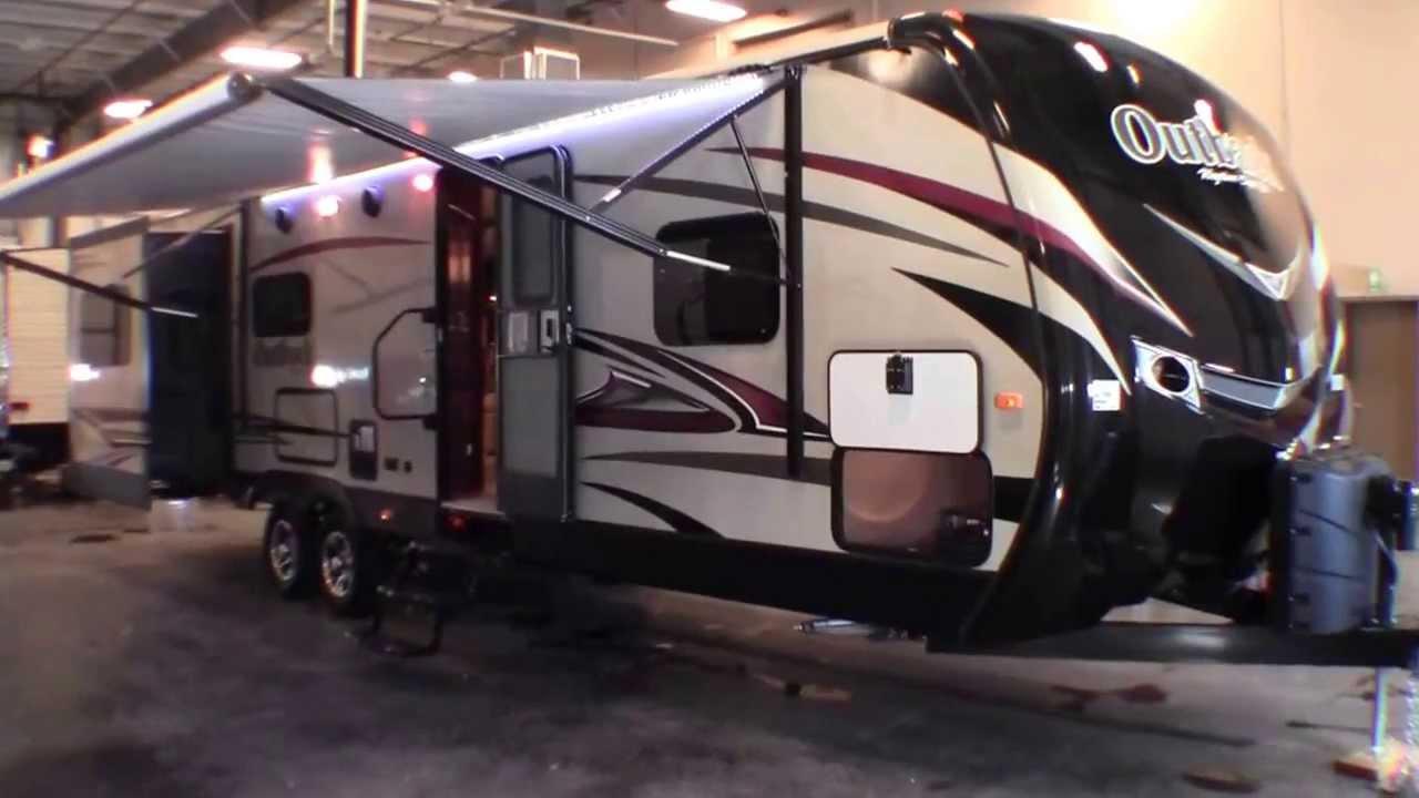2014 keystone outback 298re three slide travel trailer with diamond