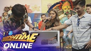 "It's Showtime Online: Nadine Lustre takes on ""Box-San Na Yan!"""