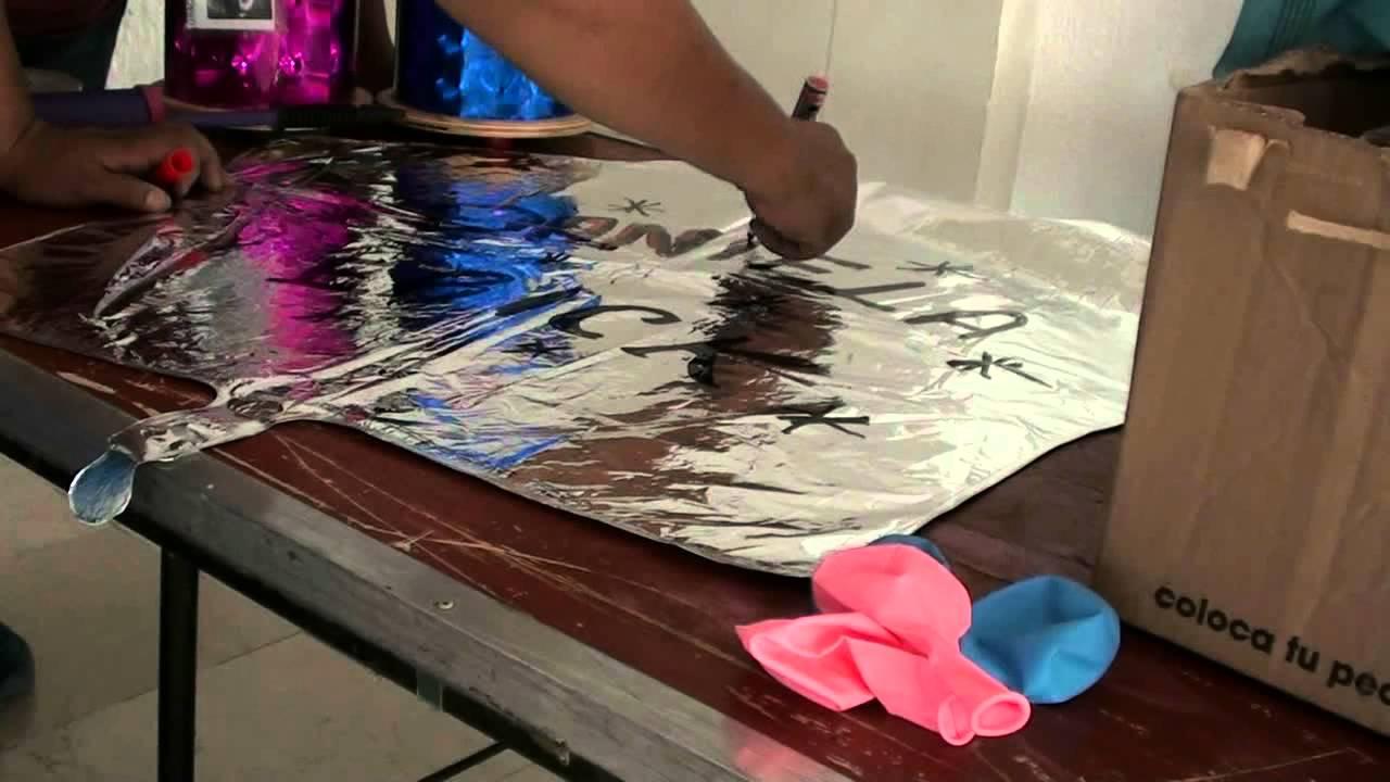Pintando letras en globo metalico youtube - Adornos metalicos para pared ...