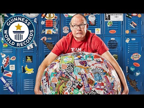 Largest Sticker Ball - Guinness World Records