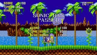 Прохождение sonic 1#1 ЗВУК ОБГОНЯЕТ ВИДЕО