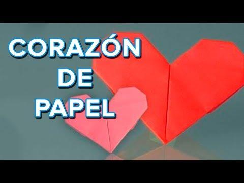 Cómo hacer un corazón de papel, origami - YouTube