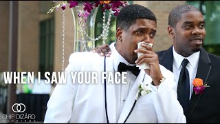 Groom cries as  Bride walks down the Aisle {Crystal and Joseph}