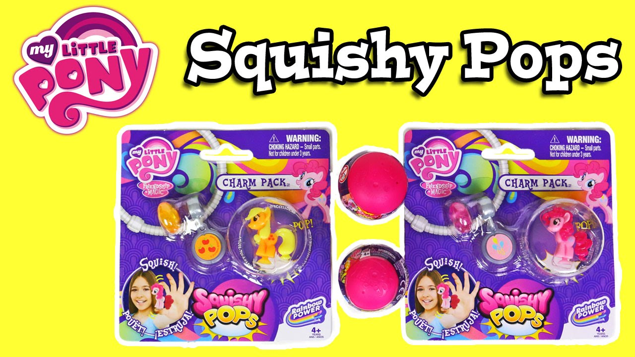 Toys R Us My Little Pony Squishy Pops : My Little Pony Squishy Pops Charm Packs - YouTube