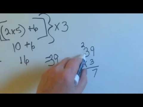 Grade 5 Math #1.12, Parentheses, Brackets, Braces And Grouping Symbols