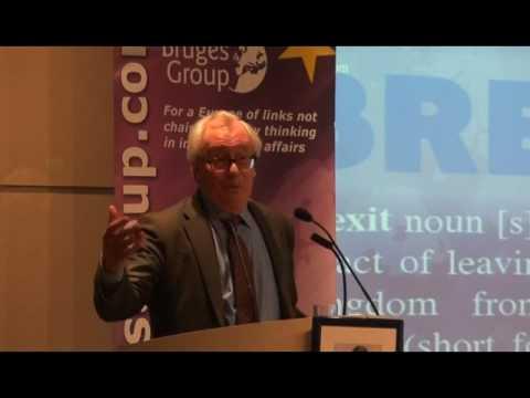 Patrick Minford addresses Bruges Group. November 2016
