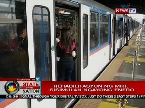 SONA: 43 buwan na rehabilitasyon ng MRT-3, sisimulan ngayong Enero