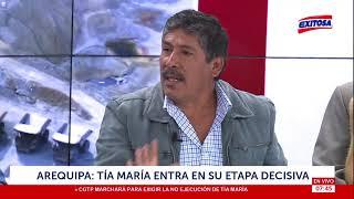 Tía María   Pobladores del Valle de Tambo anuncian huelga indefinida