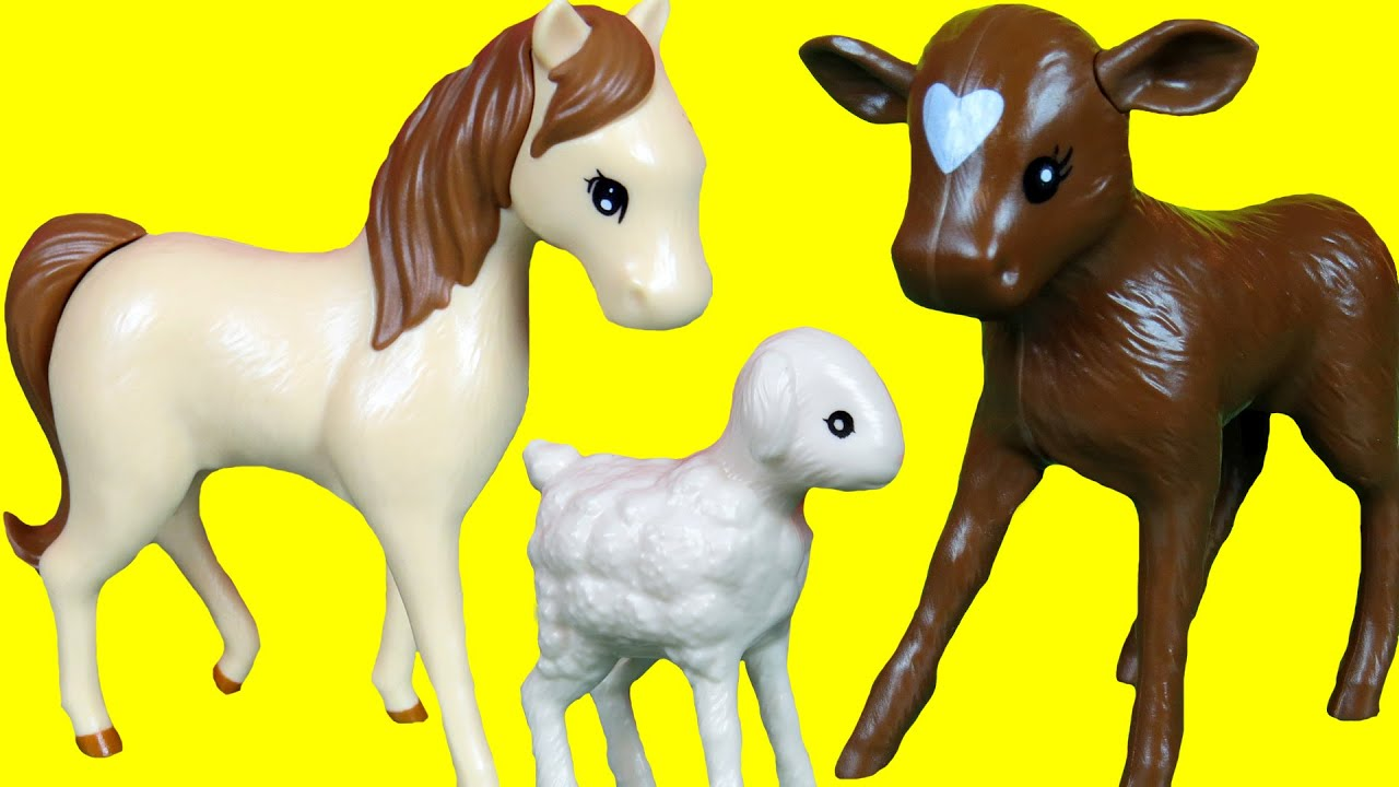 Farm Animals Playing Jumping Silly sounds Toy Horse Goat Kid