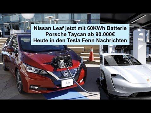 Nissan Leaf mit 60KWh Batterie ist ab Frühjahr 2019 erhältlich