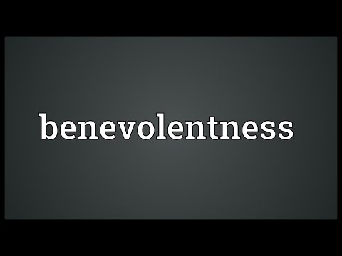 Header of benevolentness