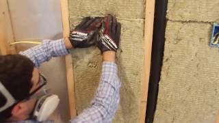How to Insulate Walls with Roxul -- Home Repair Tutor