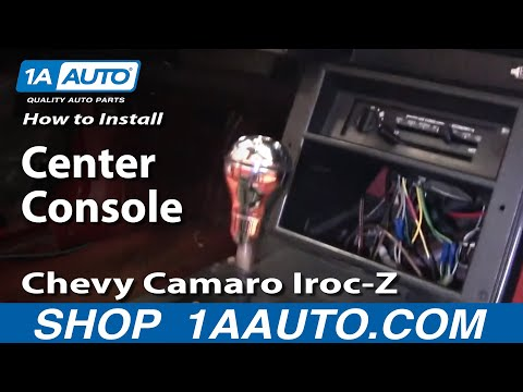 How To Replace Center Console Chevy Camaro Iroc-Z 82-92