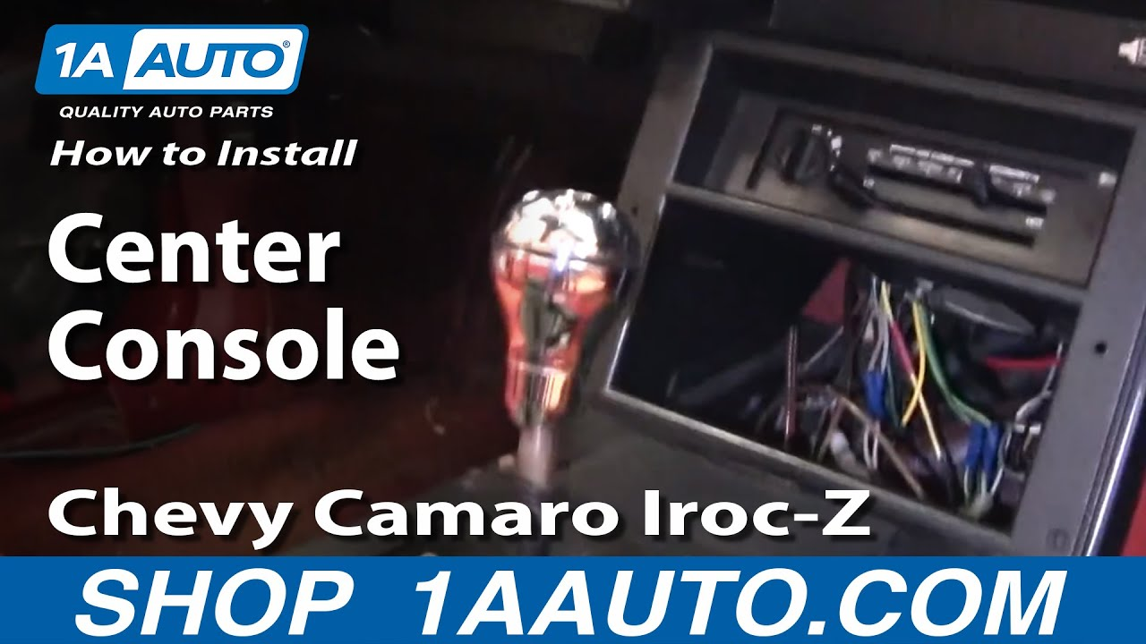 How to Remove Replace Center Console Chevy Camaro Iroc-Z 82-92 ...
